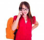 Schoolgirl Talking On Mobile Phone