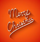 Text design of Merry Christmas on red color background