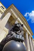 Lion at Spanish Congress of Deputies in Madrid - parliament building