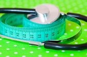 The measuring tape and a stethoscope