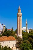 Famous Mosque in Antalya, Turkey -  architecture background