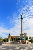 Heroes' Square In Budapest On July 25, 2014.