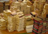 Piles Of Paperback Books