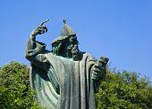 Statue of Gregorius of Nin at Split, Croatia