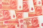 Old soviet russian currency - abstract money background