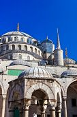 Blue mosque in Istanbul Turkey - architecture religion background