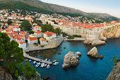 Sunset at Dubrovnik, Croatia - architecture background