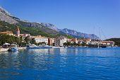Town Makarska in Croatia - resort travel background