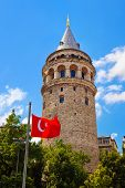 Galata tower at Istanbul Turkey - architecture background