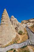 Cave city in Cappadocia Turkey - nature background