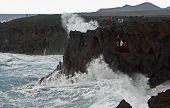 Los Hervideros Crashing Waves