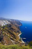 Santorini View (Thira) - vacation background