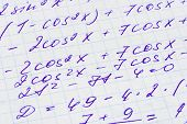 Mathematics formula on paper - abstract education background