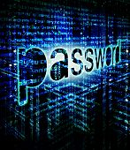 High Quality Password Background Digital Illustration