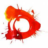 Abstract watercolor circle frame splash design element, vector i