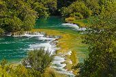Waterfall KRKA in Croatia - nature travel background