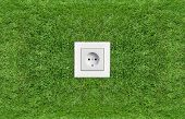 outlet in green grass