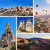 Collage of Cappadocia Turkey images - nature and tourism background (my photos)
