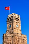 Famous tower in Antalya Turkey - architecture background