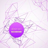 Geometrical background with purple lines