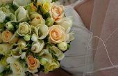 Brides bodice and bouquet