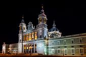 Almudena Cathedral at Madrid Spain - architecture background