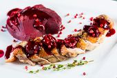 Roasted Duck Breast With Cranberry Sauce