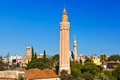 Famous Mosque in Antalya Turkey - architecture background