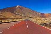 Road to volcano Teide at Tenerife island - Canary Spain
