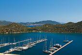 Yachts in Kas Turkey - travel background