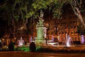 Fountain in Madrid Spain - architecture background