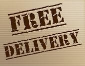 Free Delivery Indicates With Our Compliments And Courier