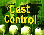Cost Control Represents Charge Paying And Finances