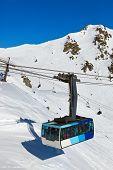 Mountains ski resort Bad Hofgastein Austria - nature and sport background