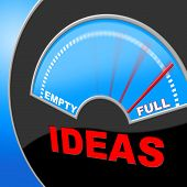 Full Of Ideas Indicates Indicator Invention And Inventions