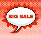 Big Sale Means Message Cheap And Sign