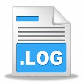 Log File Represents Organized Logbook And Organize