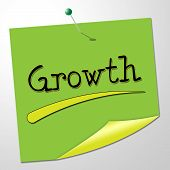 Growth Message Indicates Note Expand And Improve