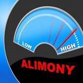Alimony High Shows Over The Odds And Divorce