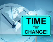 Time For Change Means At The Moment And Changing