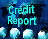 Credit Report Represents Debit Card And Analysis