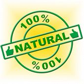 Hundred Percent Natural Represents Absolute Organic And Nature