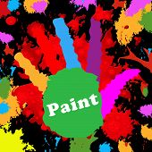 Kids Paint Indicates Spectrum Watercolor And Multicolored