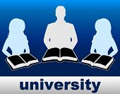 University Books Means Education Studying And Learn