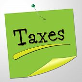 Taxes Note Shows Correspondence Levy And Correspond