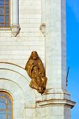 Sculpture on Cathedral of Christ the Savior in Moscow (Russia)