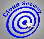 Cloud Security Shows Information Technology And Computer