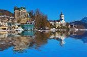Village St Wolfgang on the lake Wolfgangsee - Salzburg Austria