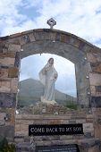 Glass Holy Shrine At Croagh Patrick