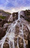 Waterfall in fjord Lysefjord - Norway - nature and travel background